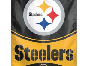 Steelers Banner (Black), 27 in x 37 in