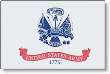 4 in x 6 in Army Mini-Flag on 10 in Staff