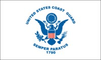 4 in x 6 in Coast Guard Mini-Flag on 10 in Staff