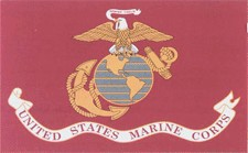 4 in x 6 in Marine Corps Mini-Flag on 10 in Staff