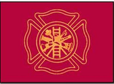 Firefighters Nylon Flag, 3 ft x 5 ft