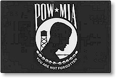 4 in x 6 in POW/MIA Mini-Flag on 10 in Staff