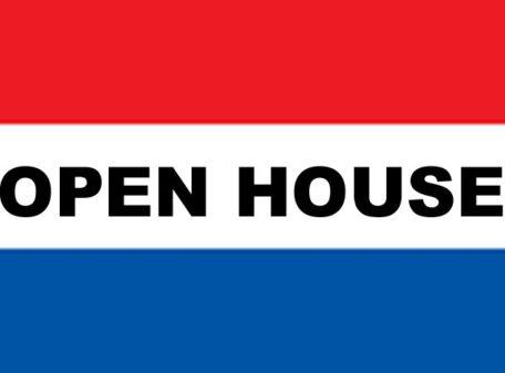 3' x 5' OPEN HO-- USE nylon flag
