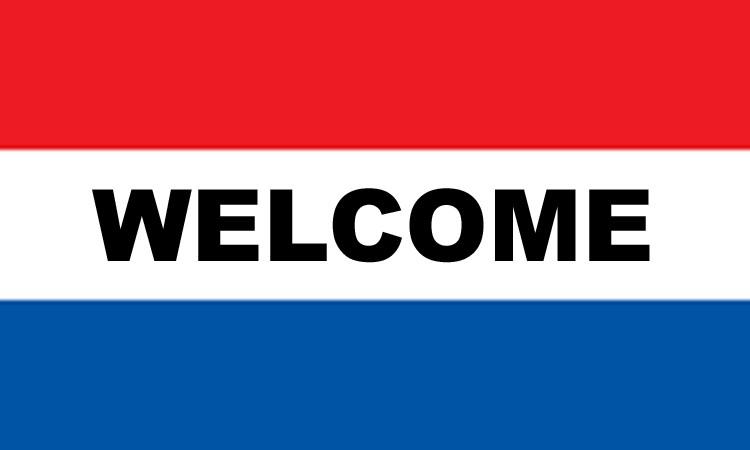 3' x 5' WELCOME nylon flag