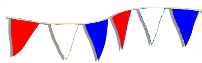 105' R/W/B Pennant String