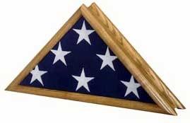 Patriot Flag Case - Oak Finish