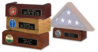 Pedestal for Flag Case - Includes Plaque & Medallion
