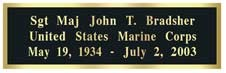 Black-on-Brass Engraved Plaque