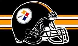 3 ft x 5 ft Steelers Helmet  Flag (Black)