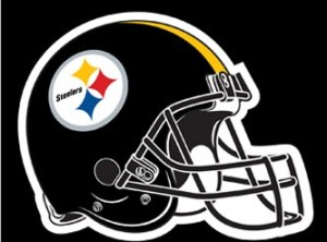 "28"" x 44"" Steelers Double-sided Applique Banner (Black)"