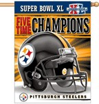 FREE !  27 in x 37 in Steelers Super Bowl XL Banner
