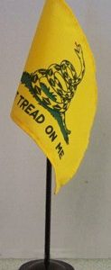 4 in x 6 in Gadsden ( Dont Tread on Me ) desktop flag