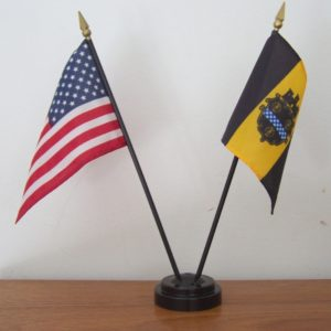 U.S. + Pittsburgh Mini-Flag Set