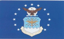 4 in. x 6 in. U.S. Air Force Mini-Flag on Staff