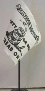 "4"" x 6"" Culpeper desktop flag on 10""staff"