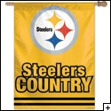 "Steeler Country Banner, 27"" x 37"""