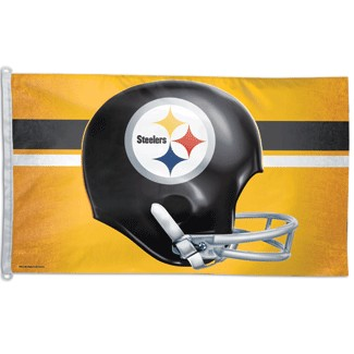 3' x 5' Steeler Flag - Gold background