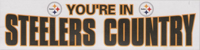 Giant 2' x 8' Steelers Country Banner (White)