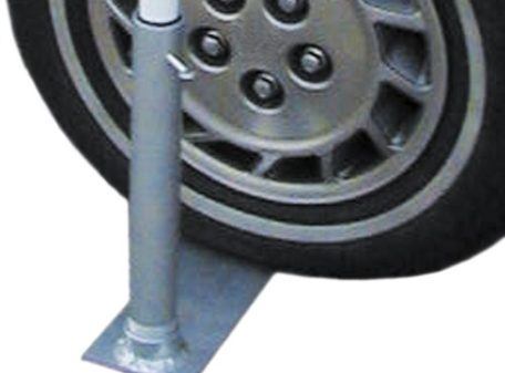Tire Mount to Hold Portable Flagpole