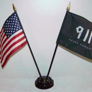 911 & U.S. Desktop Flag Set