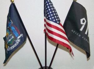 911 & U.S. & New York Desktop Flag Set