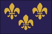 3' x 5' Fleur-de-Lis (blue-3) nylon flag