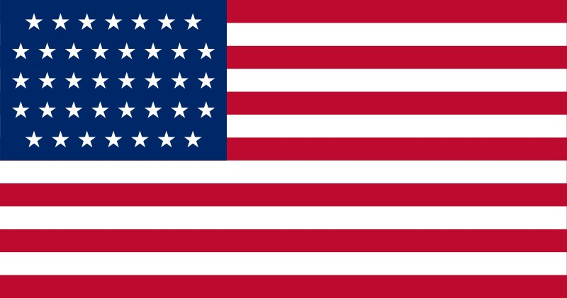 38-Star U.S. flag (1877-1890 ) [ CO ] --- click on button to see sizes & prices