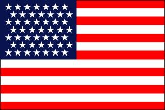 49-Star U.S. nylon flag (1959-1960) [AK] --- click on button to see sizes & prices
