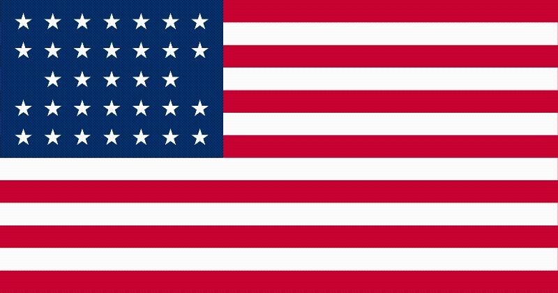 33-Star U.S. flag (1859-1861) [SEWN]]