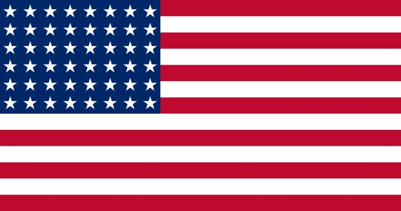 48-Star U.S. flag (1912-1959) [ AZ, NM ] --- click on button to see sizes & prices