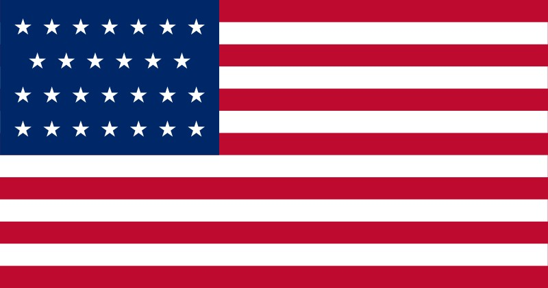 27-Star U.S. flag (1845-1846) [ FL ] --- click on button to see sizes & prices