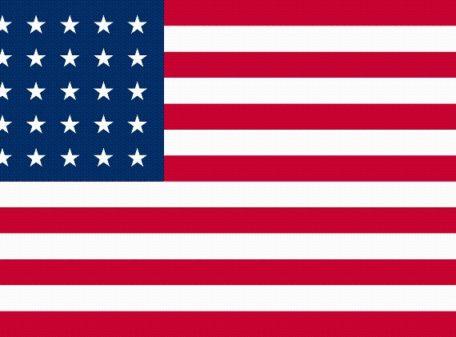 35-Star U.S. nylon flag (1863-1865)
