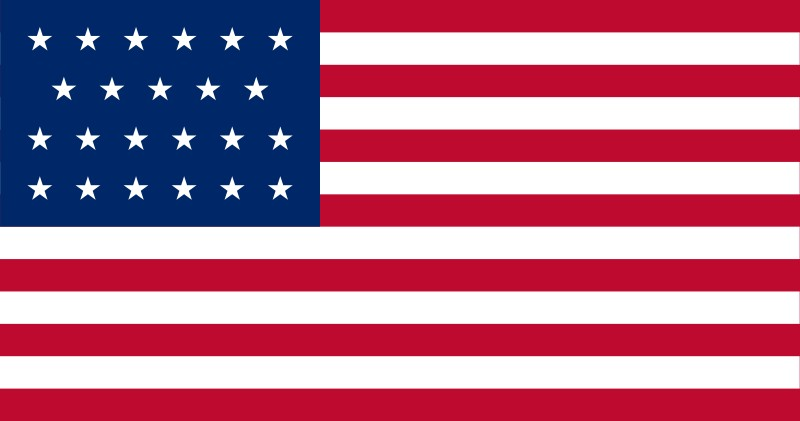23-Star U.S. flag (1820-1822) [ AL, ME ] --- click on button to see sizes & prices