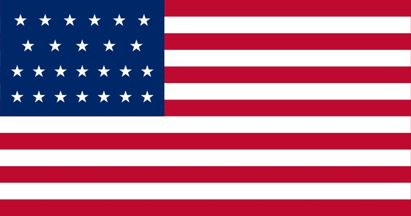 25-Star U.S. flag (1836-1837) [ AR ] --- click on button to see sizes & prices