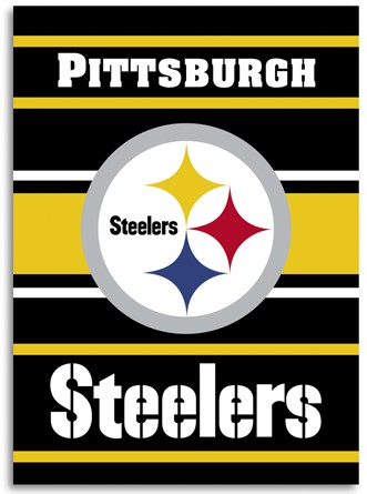 "Two-Sided Steelers Banner, 28"" x 40"""