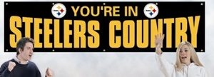Giant 2' x 8' Steelers Country Banner (Black)