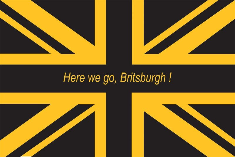 3' x 5' Here We Go Britsburgh Flag