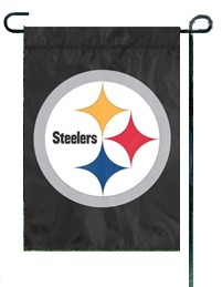 Steelers Applique Garden / Window Flag