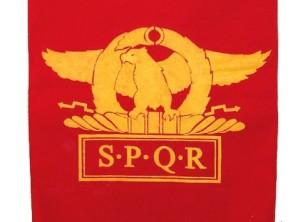 SPQR- Eagle (wings horizontal)