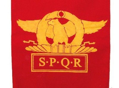 SPQR- Eagle (wings horizontal)