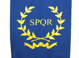 SPQR - Wreath (Blue)