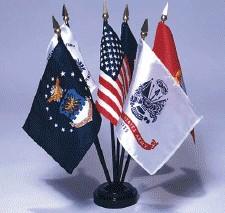 Armed Forces Desktop Flag Set