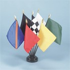 Auto Race Desktop Flag Set