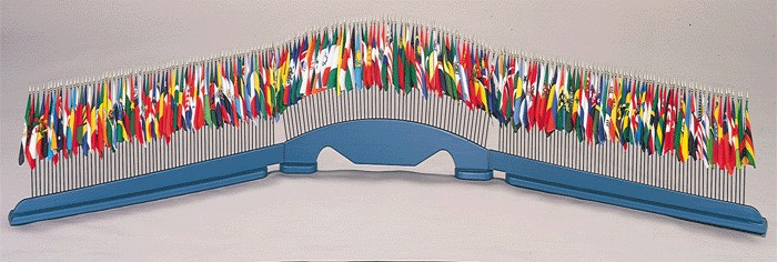 United Nations Desktop Flag Set - 193 Flags with Stand