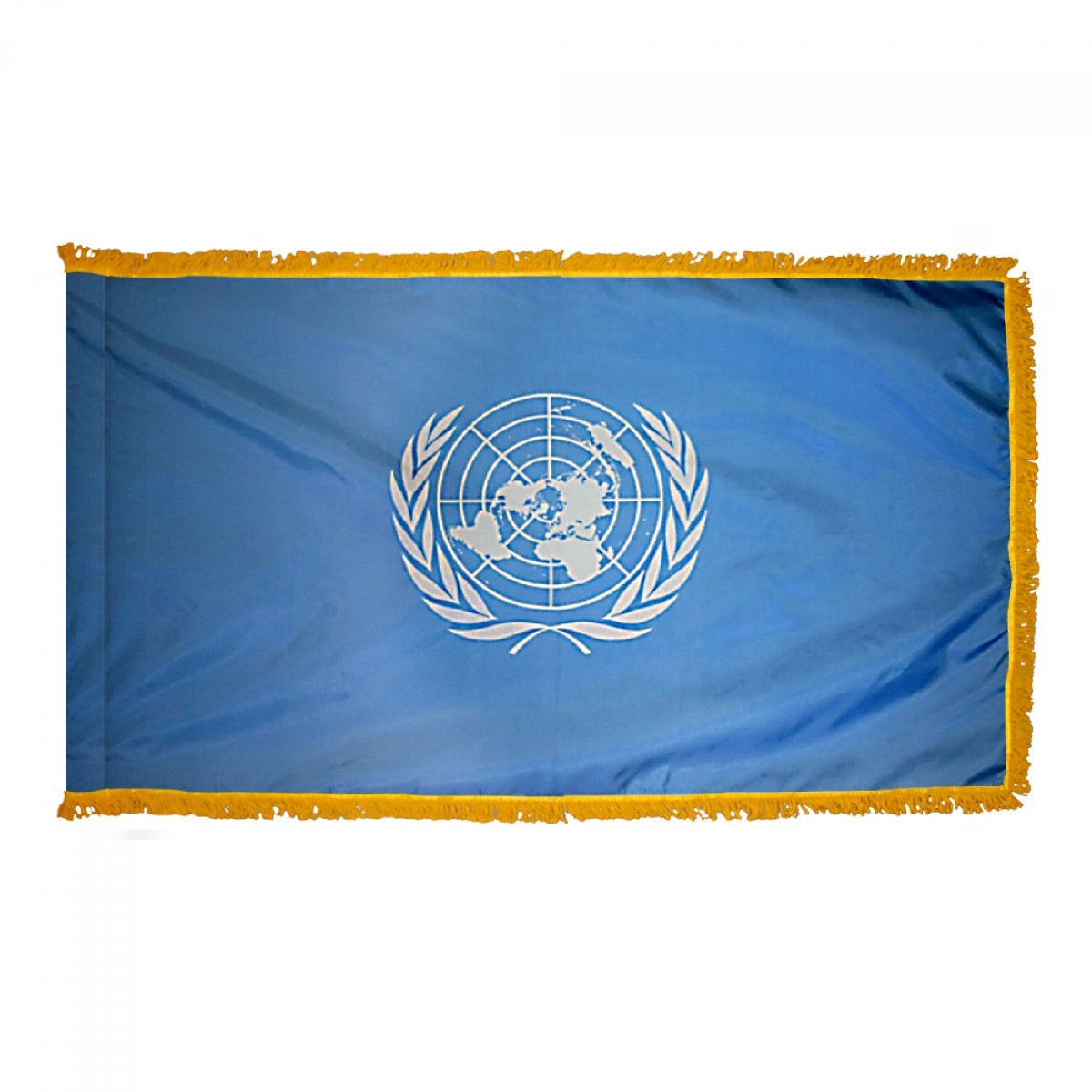 International / World Indoor & Parade Flags with Fringe