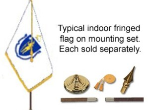 Mounting Set for Indoor Flag - 8' Pole