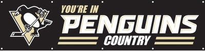Pittsburgh Penguins 2' x 8' Banner