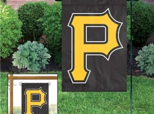 Pittsburgh Pirates Applique Garden / Window Flag