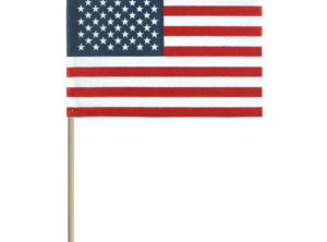 "U.S. Flag on Staff – Unhemmed ""No-Fray"""