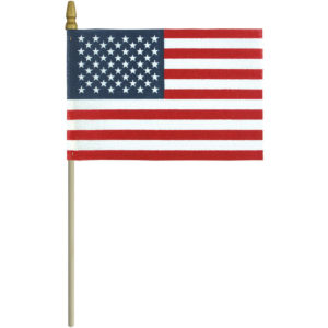 "U.S. Flag on Staff – Unhemmed ""No-Fray"""